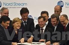 """Nga và Đức khánh thành """"Dòng chảy phương Bắc"""""""