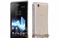 Hình ảnh mẫu smartphone tầm trung Sony Xperia J