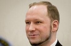 Sát thủ Breivik chấp nhận ở tù, không kháng án