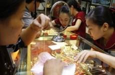 Vàng trong nước giảm gần 350.000 đồng mỗi lượng
