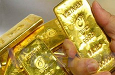 Giá vàng chạm mức cao nhất trong một tháng qua