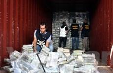 Cảnh sát Italy thu giữ tới một tấn cocaine trên tàu