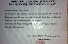 """Dân """"sốc"""" vì chủ đầu tư chạy làng quản lý Keangnam"""