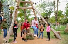 [Photo] Du khách ùn ùn đổ về Lễ hội Xuân Ecopark 2020