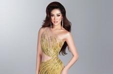 Khánh Vân tiết lộ bộ ảnh dạ hội trước thềm bán kết Miss Universe