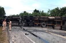 Tai nạn liên hoàn khiến đường tránh Nam Hải Vân ách tắc nhiều giờ