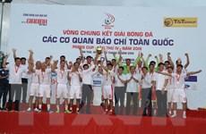 Đội VTV vô địch Giải bóng đá các cơ quan báo chí toàn quốc