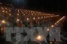Những ngọn nến tri ân tại Nghĩa trang Liệt sỹ Quốc gia Vị Xuyên