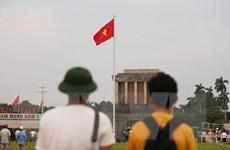 [Photo] Cờ Tổ quốc tung bay khắp phố phường Hà Nội dịp Quốc khánh