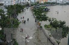 Một số khu vực ở Thành phố Hồ Chí Minh ngập nặng do triều cường