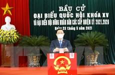 Hình ảnh các lãnh đạo Đảng, Nhà nước, Quốc hội đi bầu cử