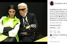 Kendall Jenner, G-Dragon và sao quốc tế tiếc thương Karl Lagerfeld