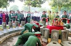 Tỉnh Quảng Trị tổ chức truy điệu và an táng 23 hài cốt liệt sỹ