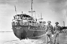 [Photo] Pháp rút quân khỏi Việt Nam sau Hiệp định Genève 1954