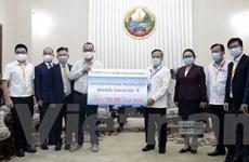 Tập đoàn Hoàng Anh Gia Lai tặng Lào thiết bị y tế chống dịch COVID-19