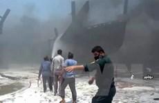 Không có thương vong trong vụ cháy nhiều tàu biển ở cảng Iran