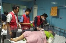 Hội Chữ thập Đỏ thăm hỏi nạn nhân vụ lật xe tại Quảng Bình
