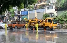 Hà Nội: Triển khai biện pháp hạn chế úng ngập do ảnh hưởng bão số 7