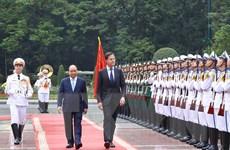 Hình ảnh lễ đón Thủ tướng Hà Lan thăm chính thức Việt Nam