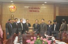 Đoàn công tác Thông tấn xã Pathet Lào làm việc tại Thanh Hóa