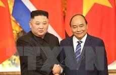 Hình ảnh Thủ tướng Nguyễn Xuân Phúc hội kiến Chủ tịch Triều Tiên
