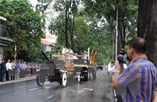 Hình ảnh linh cữu nguyên Chủ tịch nước Lê Đức Anh tới TP.HCM