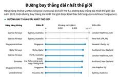[Infographics] Những đường bay thẳng dài nhất thế giới