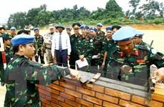 Hình ảnh lực lượng Việt Nam tham gia hoạt động gìn giữ hòa bình LHQ
