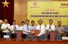 Thông tấn xã Việt Nam ký thỏa thuận hợp tác với UBND tỉnh Vĩnh Phúc