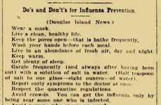 Lời khuyên phòng dịch từ 100 năm trước cho thấy lịch sử luôn lặp lại