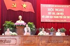 Chủ tịch Quốc hội làm việc với lãnh đạo thành phố Cần Thơ