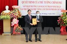 Bàn giao Trường CĐ Sư phạm Ninh Thuận vào Đại học Nông lâm TP.HCM
