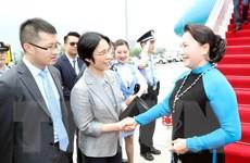 Chủ tịch Quốc hội tới Giang Tô, bắt đầu thăm chính thức Trung Quốc