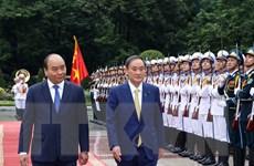 [Photo] Thủ tướng Nguyễn Xuân Phúc chủ trì Lễ đón Thủ tướng Nhật Bản