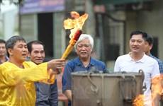 Hình ảnh lễ chập lửa đúc trống đồng 'Hào khí non sông'