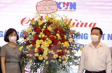 Trưởng ban Tuyên giáo TW chúc mừng TTXVN nhân ngày Báo chí
