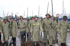 [Photo] Phó Thủ tướng kiểm tra công tác ứng phó bão số 3 ở Quảng Ninh