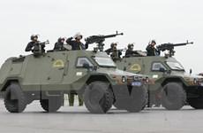 Cận cảnh lễ xuất quân và diễn tập phương án bảo vệ Đại hội Đảng