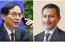 Bộ trưởng Ngoại giao Bùi Thanh Sơn điện đàm với Bộ trưởng Singapore