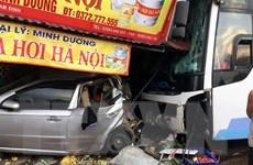 Xe khách lao vào nhà dân làm 1 người chết, 3 người bị thương