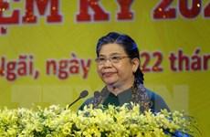 Phó Chủ tịch QH Tòng Thị Phóng dự Đại hội Đảng tỉnh Quảng Ngãi lần XX