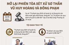 [Infographics] Mở lại phiên xét xử sơ thẩm cựu Bộ trưởng Vũ Huy Hoàng