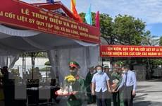 Tỉnh Quảng Trị tổ chức truy điệu và an táng 40 hài cốt liệt sỹ