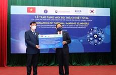 Việt Nam tiếp nhận 40 máy đo thân nhiệt từ xa của Chính phủ Hàn Quốc