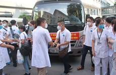 Đoàn y bác sỹ Bệnh viện Hữu Nghị chi viện vào TP.HCM chống dịch
