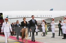 Hình ảnh Thủ tướng Hà Lan Mark Rutte đến Sân bay quốc tế Nội Bài