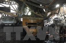 Bình Dương: Cháy quán càphê lan sang kho chứa hàng gây nhiều thiệt hại