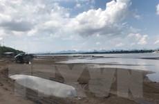 Lào: Lượng mưa thấp khiến mực nước sông Mekong giảm mạnh