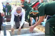 Truy điệu và an táng 15 hài cốt liệt sỹ Việt Nam hy sinh tại Lào