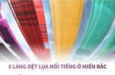 [Infographics] 5 làng nghề dệt lụa nổi tiếng ở miền Bắc
